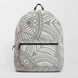 Blush Pink and Mint Mandala Backpack