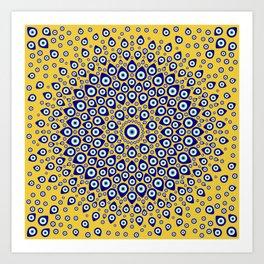 Nazar - Turkish Eye Circular Ornament #3 Art Print