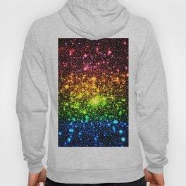 Rainbow Sparkle Galaxy Stars Hoody