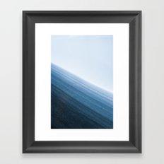 Snow Layers Framed Art Print
