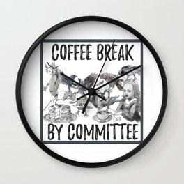 coffee break by committee Wall Clock