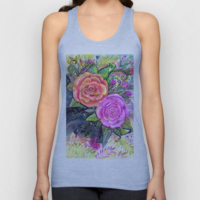 painting roses makes me EUPHORIC! Unisex Tank Top