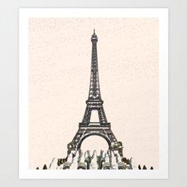 ArtWork Tower Eiffel Paris France Painting Art Print Art Print