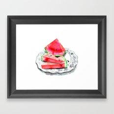 Wassermelone   Watermelon Framed Art Print