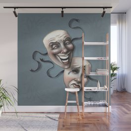 Comedy Tragedy Theater Masks Wall Mural