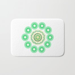 Anahata Flower Mandala Bath Mat