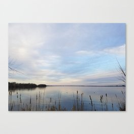 Twilight Serenity - Clouds and reflections on University Bay Canvas Print