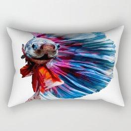 Magnificent Betta Splendens Freshwater Fish Rectangular Pillow