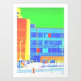 Mondrian Inspired Art Print