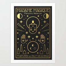 Madame Magique Art Print