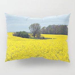 landscape in yellow Pillow Sham
