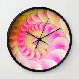 Abstract bright colorful snail background. Wall Clock