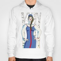 russian Hoodies featuring Russian beauty by Galina Khabarova