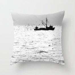"""Fishing Boat 5"" by Murray Bolesta Throw Pillow"