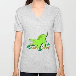 Dino - Bright Unisex V-Neck