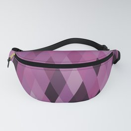 Muted Berry Color Harlequin Pattern Fanny Pack