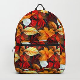 Realm of Foliage with Maple Leaves in Warm Earth Colors  Backpack