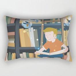 In the magic library Rectangular Pillow
