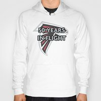 nfl Hoodies featuring NFL - Falcons 50 Years by Katieb1013