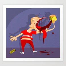 Taste not so good Art Print