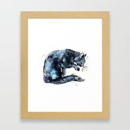 Cat series 2012: Midnight Blue  Framed Art Print