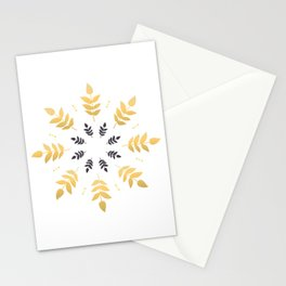 Beautiful Mandala in Golden Scandinavian / Nordic Style  Stationery Cards