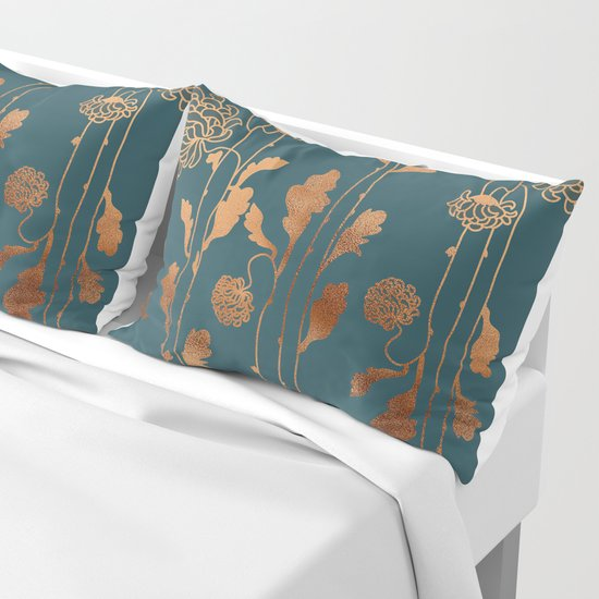 Art Deco Copper Flowers  by betterhome