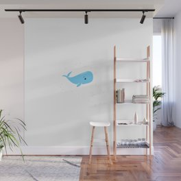 Existential Whale Wall Mural
