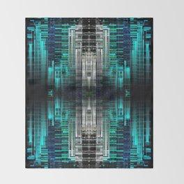 Blue Tron Throw Blanket