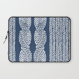 Cable Row Navy 1 Laptop Sleeve