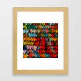 colorful rectangles with shadows Framed Art Print