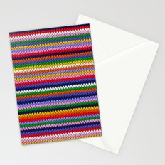 Knitted colorful lines Stationery Cards