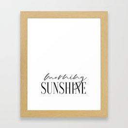 Morning Sunshine, Calligraphy Print, Couple Bedroom Print, PrintableArt Framed Art Print