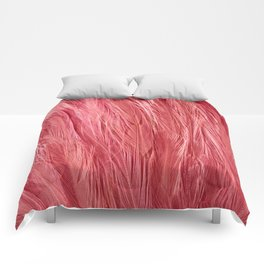 Pink Feather Texture Comforters