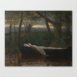 The Lady of Shalott by Walter Crane, 1862. Canvas Print