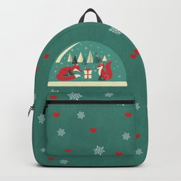 Christmas Foxes Backpack