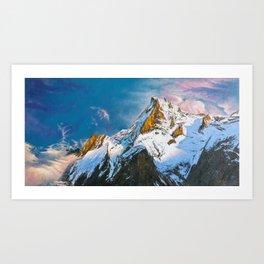 "Oil painting ""Mountain"" Art Print"