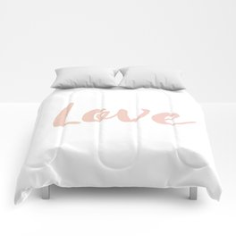 Love in Rose Gold Comforters