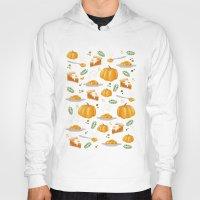 pumpkin Hoodies featuring pumpkin by Ceren Aksu Dikenci
