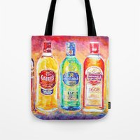 whiskey Tote Bags featuring Whiskey by LiliyaChernaya