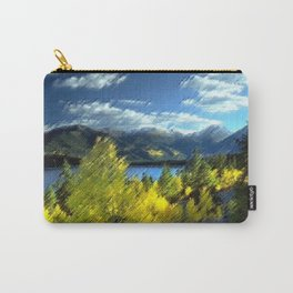 Aspen Trees at Twin Lakes, Colorado Painting by Jeanpaul Ferro Carry-All Pouch