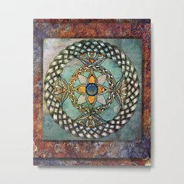 Mindful Passage Celtic Knot Metal Print