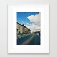 stockholm Framed Art Prints featuring Stockholm by Jane Lacey Smith