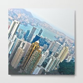 View of Hong Kong Metal Print