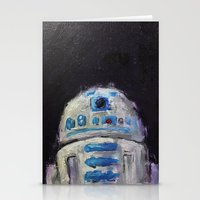 r2d2 Stationery Cards featuring r2d2 by Thad Taylor Art