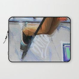 Downhill Run - Stunt Scooter Rider Laptop Sleeve