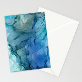 Month of March Blue Abstract Stationery Cards