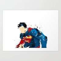 man of steel Art Prints featuring Man of Steel by ALmighty1080