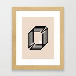 Simplicity art and a point Framed Art Print