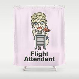 Flight Attendant Shower Curtain